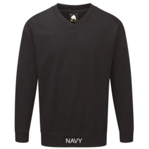 1260 BUZZARD V NECK SWEATSHIRT NAVY
