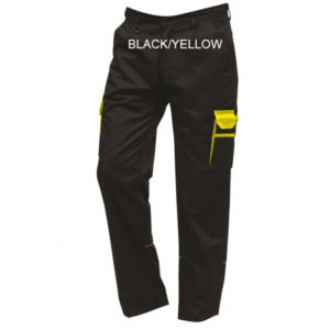 2580 TWO TONE COMBAT TROUSERS BLACK YELLOW
