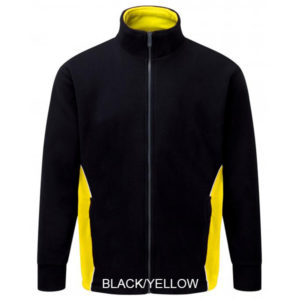 3180 TWO TONE FLEECE BLACK YELLOW