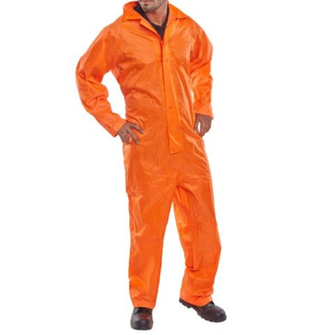 Nylon B-Dri Coverall - All In One - Orange