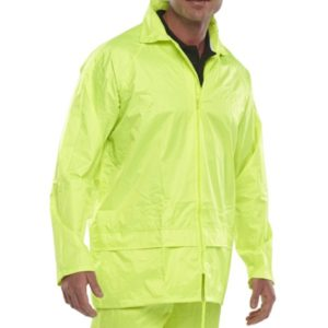 NYLON B-DRI JACKET PU COATING YELLOW