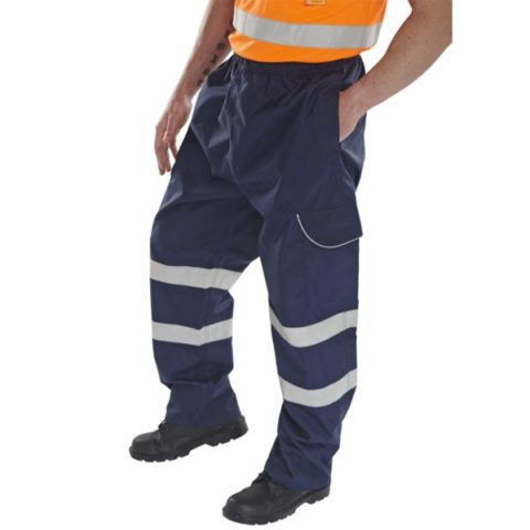 Overtrousers Hi Vis Navy Blue (B-Brand)