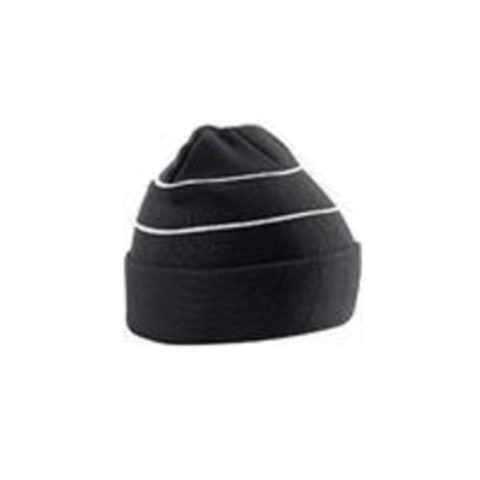 Bc042-Enhanced-Viz-Knitted-Hat-Black