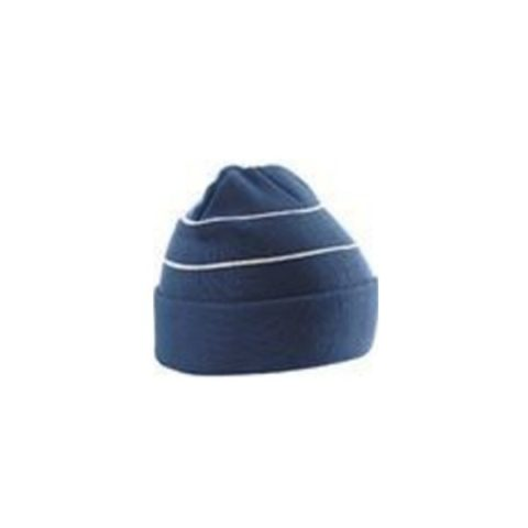 Bc042-Enhanced-Viz-Knitted-Hat-Navy