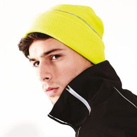 Bc042-Enhanced-Viz-Knitted-Hat-Yellow