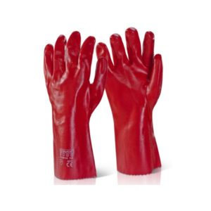 Pvc-Gauntlet-Open-Cuff-14In-Red-Pvcr14