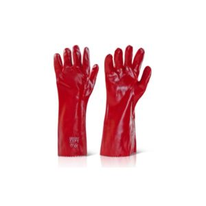 Pvc-Gauntlet-Open-Cuff-16In-Red-Pvcr16