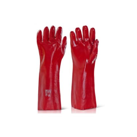 Pvc-Gauntlet-Open-Cuff-18In-Red-Pvcr18