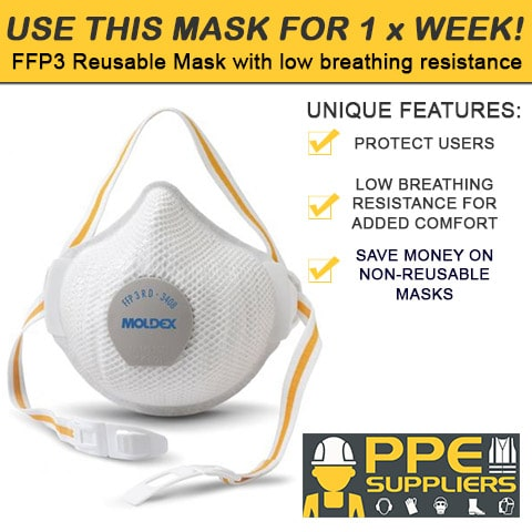 MOLDEX 3408 REUSABLE FFP3VRD MASK