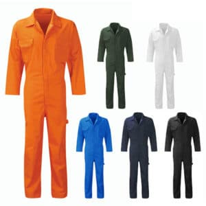POLYCOTTON STUD COVERALL - PC205BS