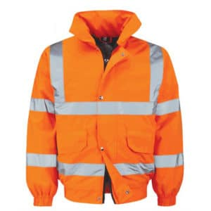 BALAN HI VIS ORANGE BOMBER JACKET
