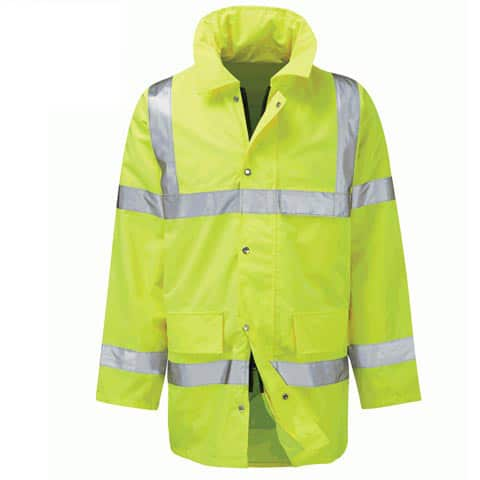 GERAINT HI VIS YELLOW PARKA JACKET