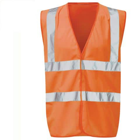 Immortal Hi Vis Orange Waistcoat