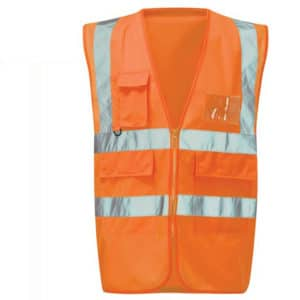 MILANESE EXECUTIVE HI VIS ORANGE WAISTCOAT