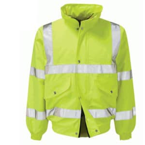 VALIANT HI VIS YELLOW BOMBER JACKET