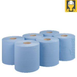 Blue-Roll-2ply-Embossed-Centrefeed-Pack-of-6