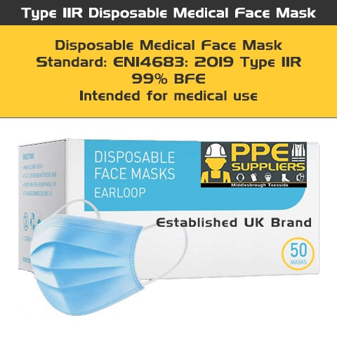 Disposable Medical Face Mask Type Iir (Box Of 50)