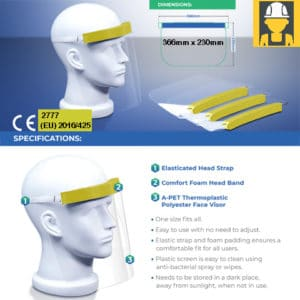 Face Protection Visor made in the UK