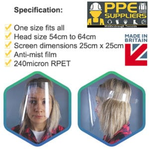 PPE Suppliers Face Shield Visor