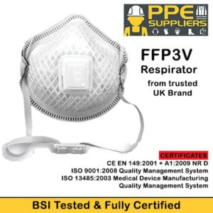 FFP3V Respirator BSI Tested & Approved (5 pack)