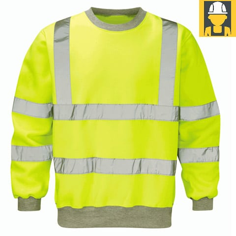 Hvss-Sentinel-Hi-Vis-Yellow-Sweat-Shirt