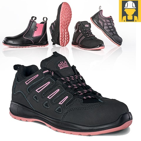 Ella Lily Nubuck Ladies Safety Trainer