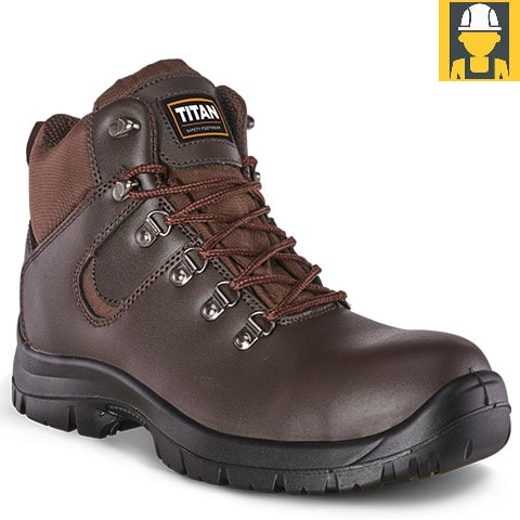 Hiker Brown Buffalo Leather Boot
