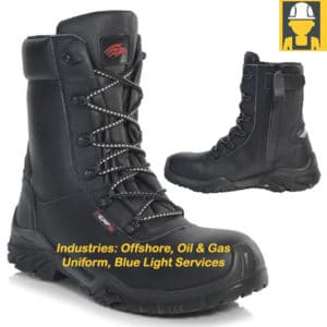 PB303 Platform Side Zip Combat Boot - Oil & Gas