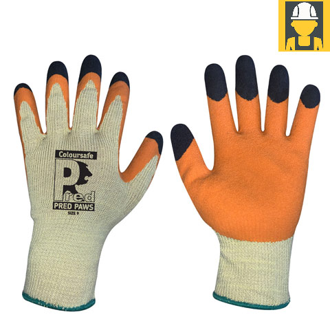 Pred Paws Latex Double-Dipped Grip Gloves