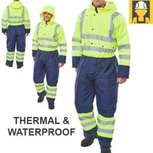 Two Tone Hi Vis Thermal Waterproof Coverall