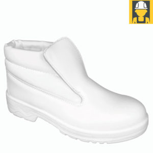 Unisex Hygiene S2 Slip-On Boot in White
