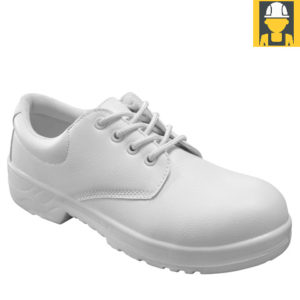 Unisex S2 Hygiene Tie Shoe in White