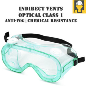 Indirect Vents Class 1 EN166 Safety Goggles