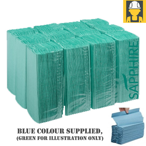 C-Fold 1 Ply Hand Towels In Blue - Box Of 2880