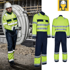 GC40 FR+AS+ARC Hi Vis Navy-Yellow 290gsm Coverall