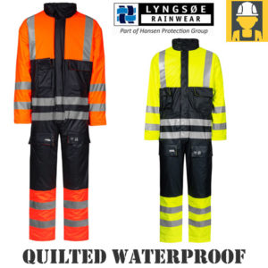 Lyngsoe Hi Vis Quilted Wind And Waterproof Winter Coverall