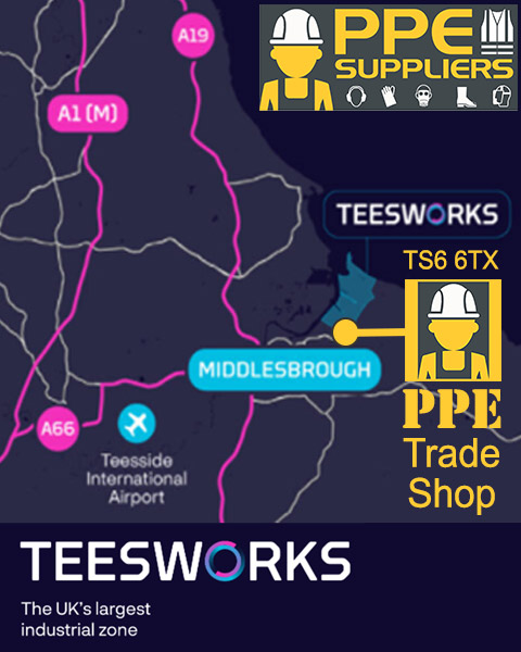 Buy PPE Supplies near Teesworks Middlesbrough from PPE Suppliers Ltd